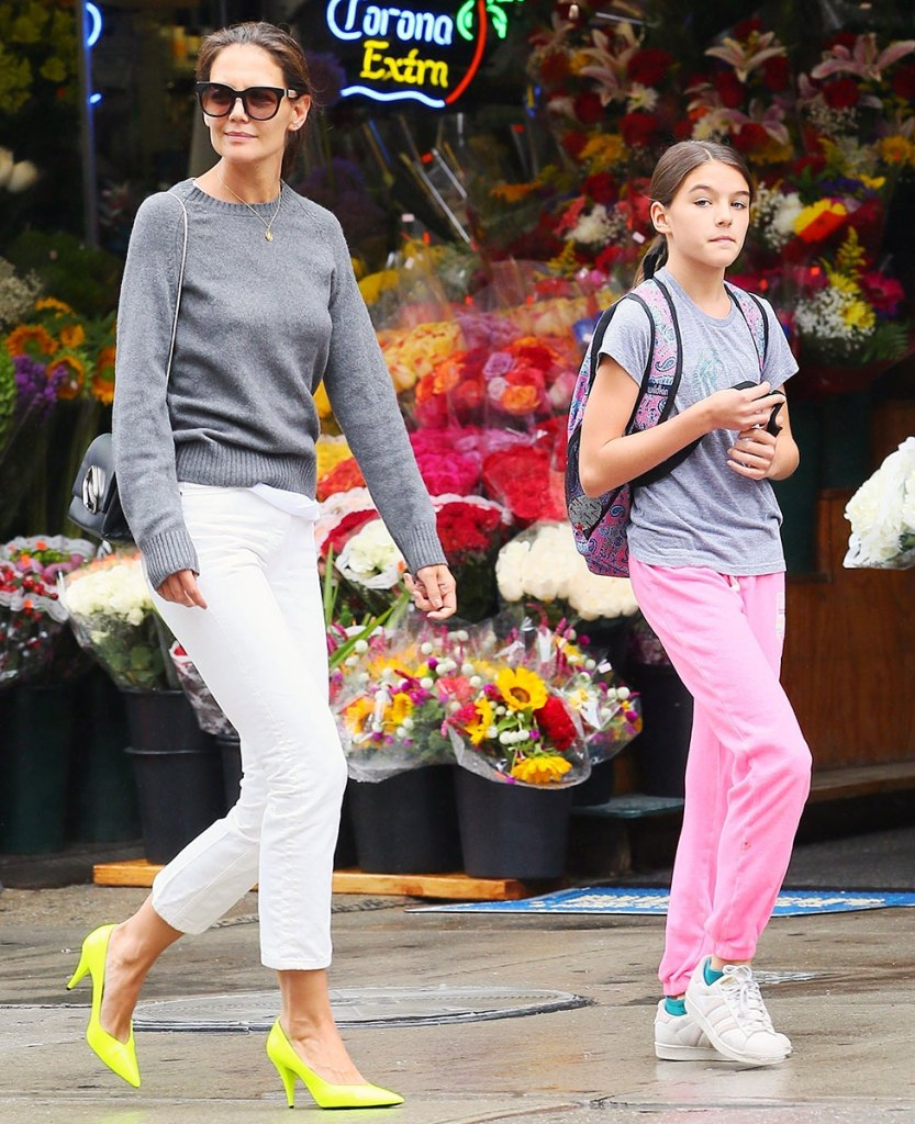 Katie Holmes and Suri Cruise Step Out Following Jamie Foxx Split