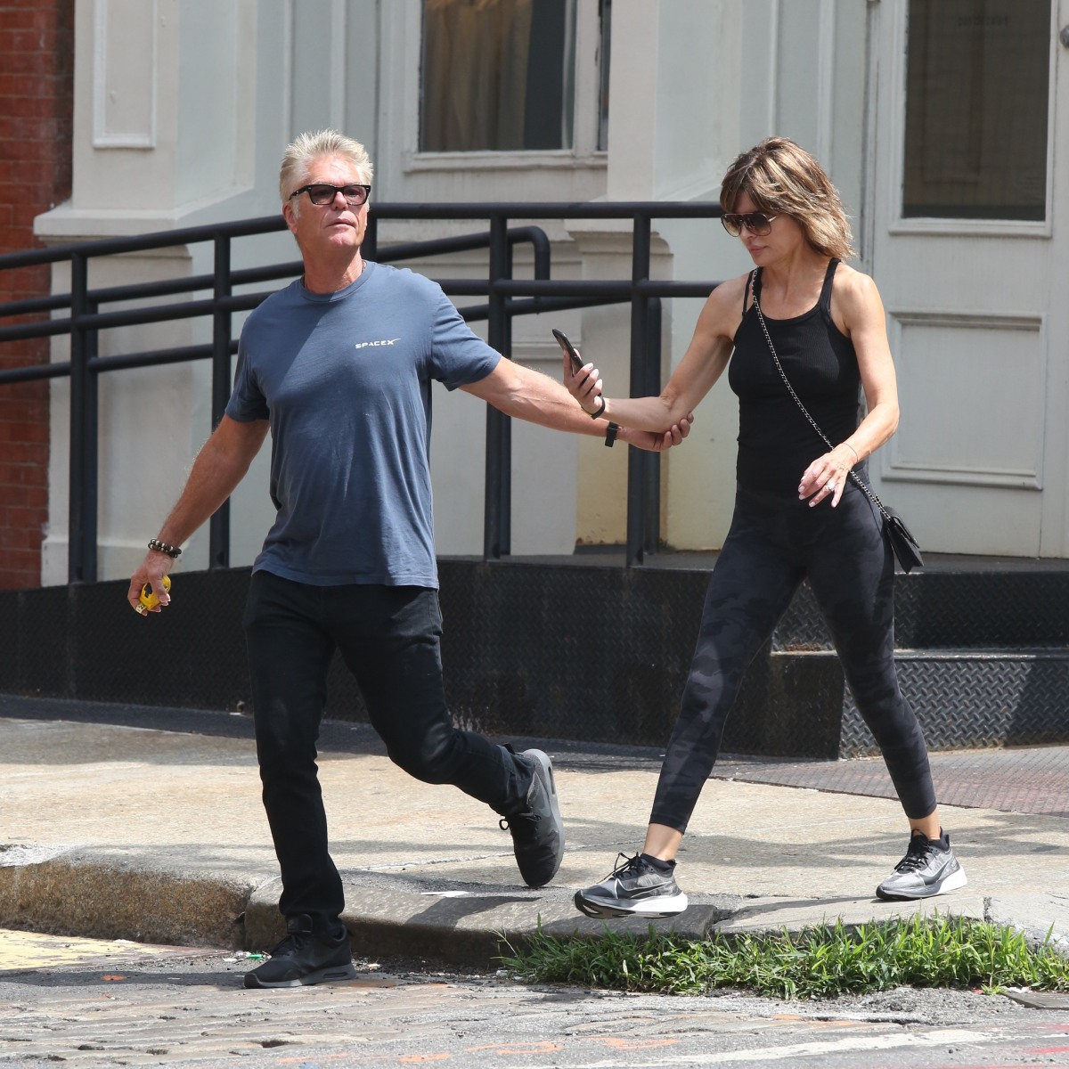 Lisa Rinna and Husband Harry Hamlin Enjoy the City While Out in Soho — Have a Look!