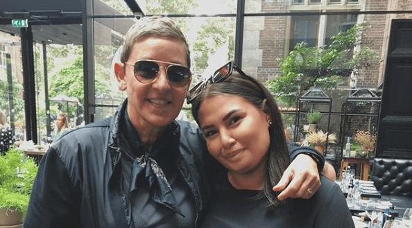 Ellen DeGeneres and fan