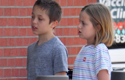 Vivienne and Knox Jolie-Pitt