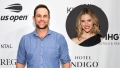 Andy Roddick Poses for Photographers at Event With an Inset Photo of Wife Brooklyn Decker