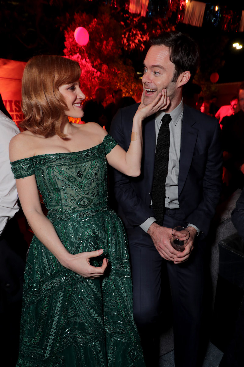 Bill Hader and Jessica Chastain at the 'IT Chapter Two' L.A. Premiere