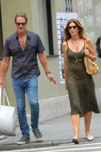Cindy Crawford and Husband Rande Gerber Enjoy an Ice-Cream in Soho