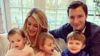 Daphne Oz with Husband and Kids