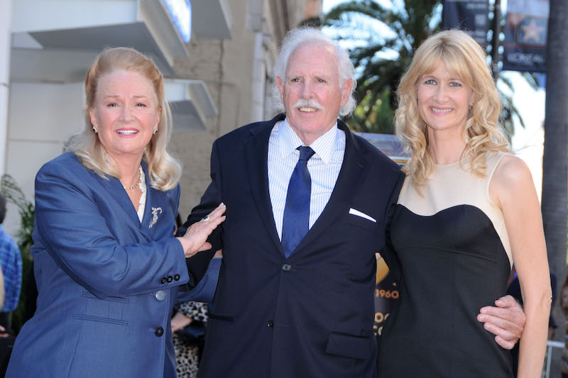 Diane Ladd, Bruce Dern and Laura Dern at Their Shared Hollywood Walk of Fame Ceremony in 2010