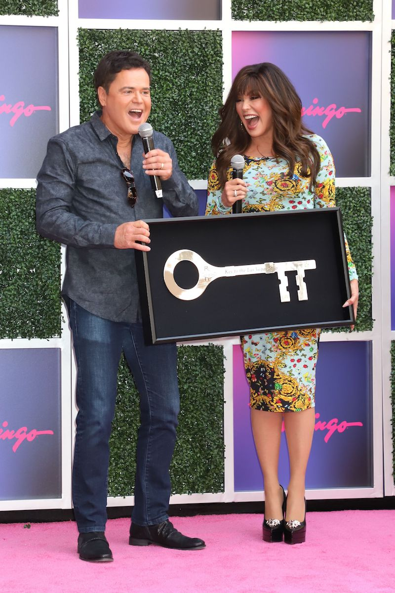 Donny Osmond and Marie Osmond Receive the Keys to the Las Vegas Strip