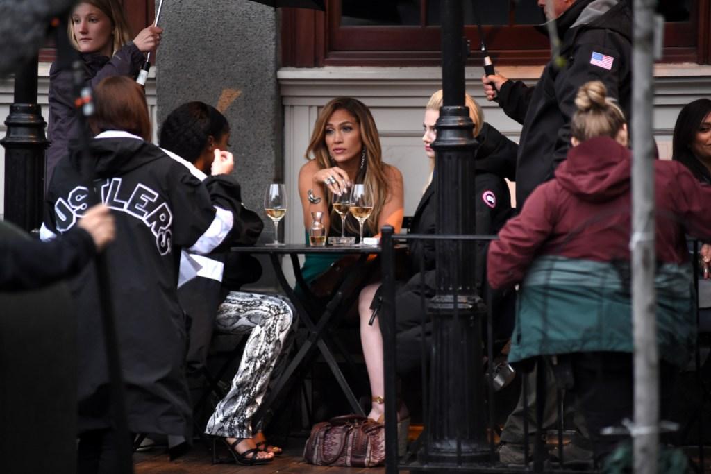 'Hustlers' on set filming, New York, USA - 25 Apr 2019