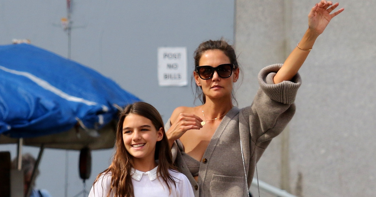 Katie Holmes and Daugh...