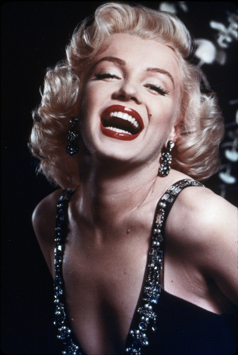 Headshot of Marilyn Monroe Laughing
