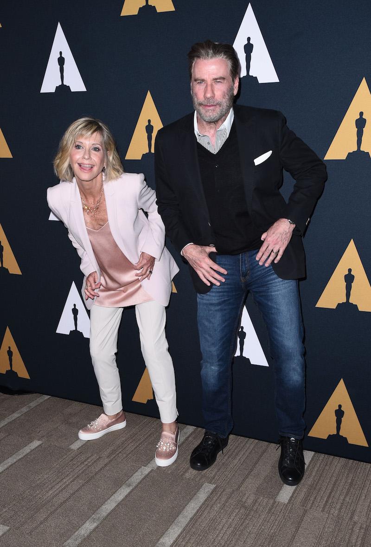 Olivia Newton-John and John Travolta at a Screening for the 40th Anniversary of 'Grease'