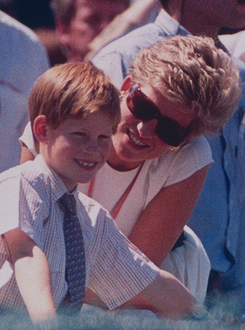 Prince Harry and Princess Diana in 1994