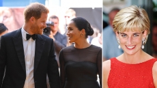 Prince Harry, Meghan Markle and Princess Diana
