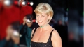 princess diana wears a black dress with diamond choker necklace in this vintage 1997 photo