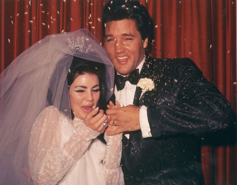 Priscilla Presley and Elvis Presley's Wedding Day