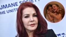 Priscilla Presley and Granddaugthers Finley and Harper