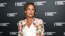 Vanessa Williams Wearing a Floral Blazer and White Top on a Red Carpet