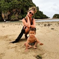 Chrissy Teigen and son Miles