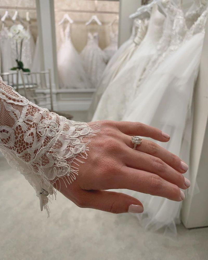 Bindi Irwin Wedding Dress Glimpse