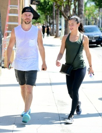 Derek Hough And Haley Erbert Taking a Stroll