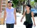 Derek Hough And Haley Erbert Taking a Stroll