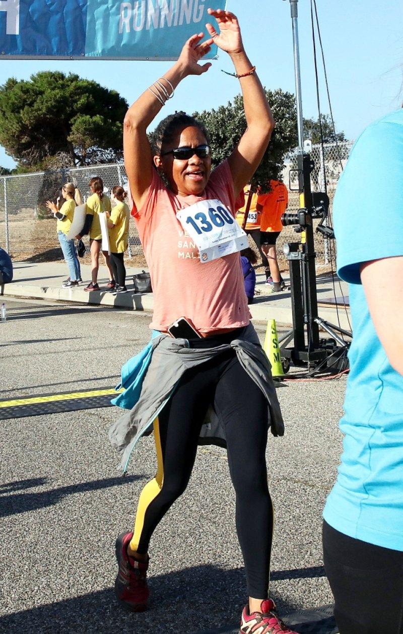 Doria Ragland crosses finish line 5K Suicide Prevention