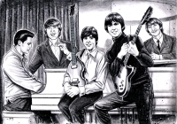 illustration-of-elvis-presley-and-the-beatles