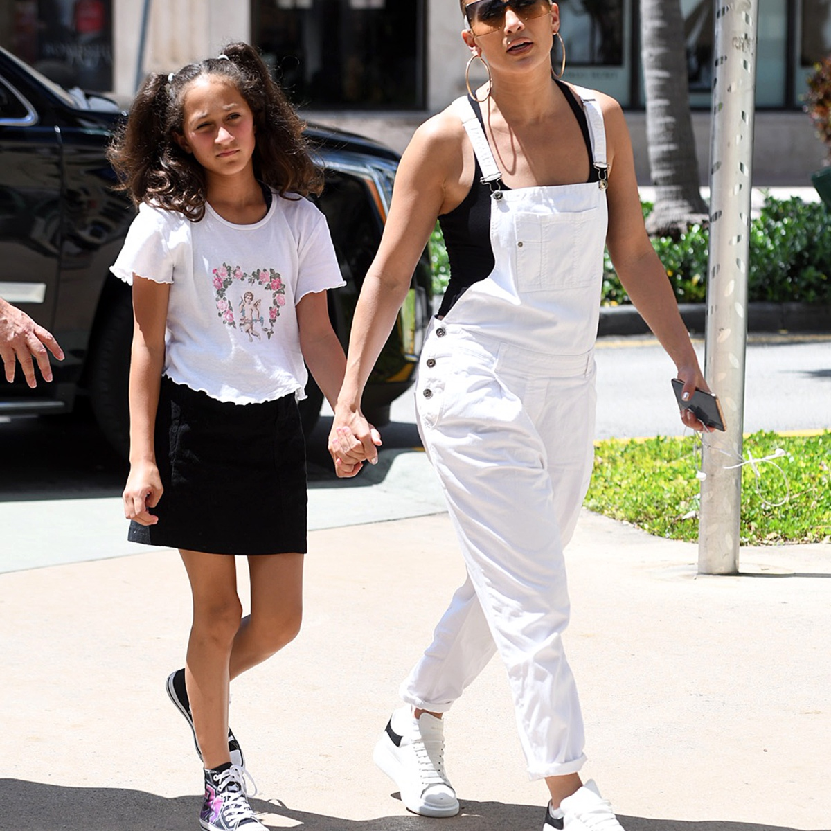 Jennifer Lopez Holds Hands With Mini-Me Daughter Emme — See the Pics!