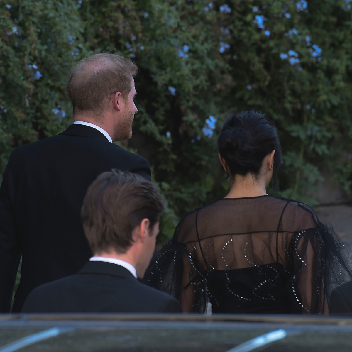 Duchess Meghan and Prince Harry Dress to the Nines for Friend's Wedding in Rome