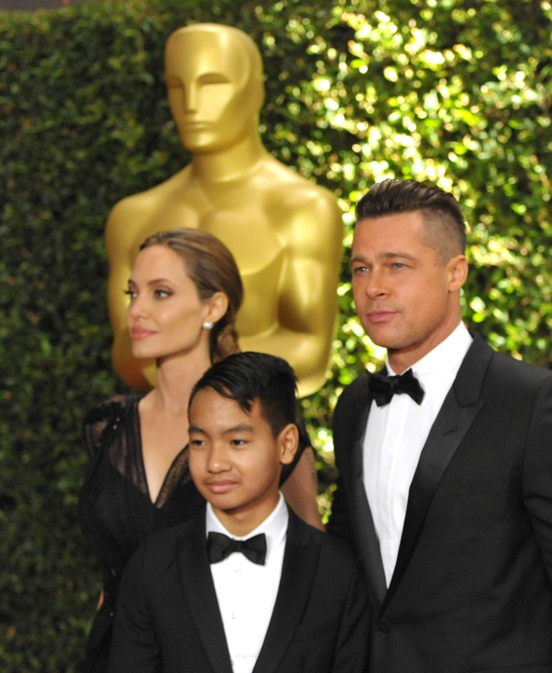 Maddox Pitt Brad Pitt Angelina Jolie