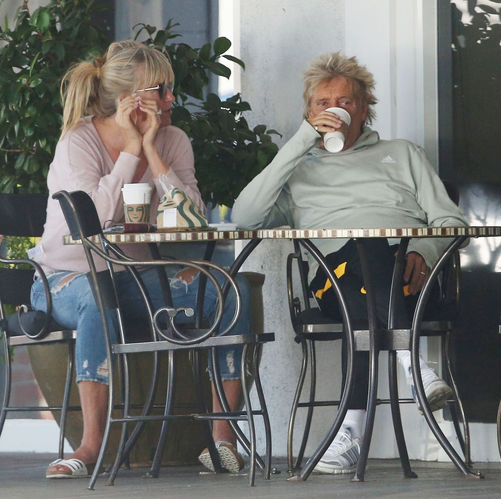 Rod Stewart and Penny Lancaster out and about, Los Angeles, USA - 18 Aug 2019