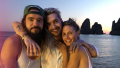 Heidi Klum with Tom Kaulitz and Bill Kaulitz