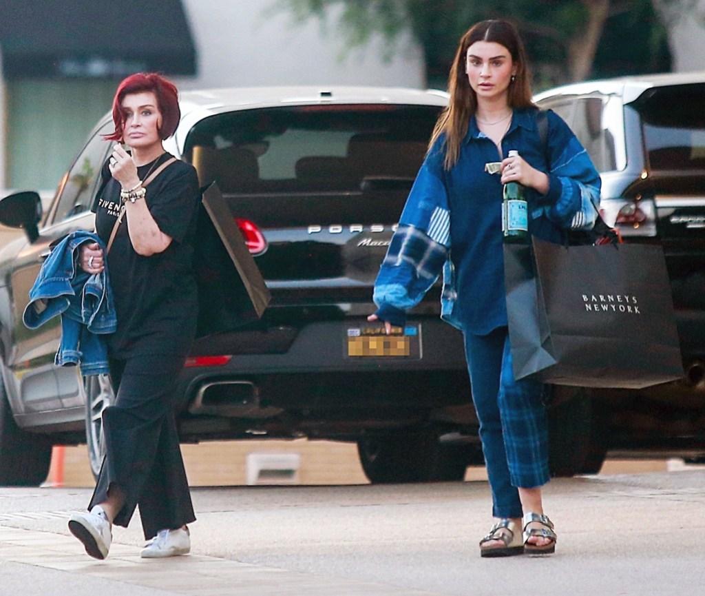 Sharon Osbourne shopping daughter Aimee Barneys New York