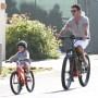 Simon Cowell Son Eric riding bike Malibu