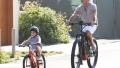 Simon Cowell Son Eric riding bike Malibu