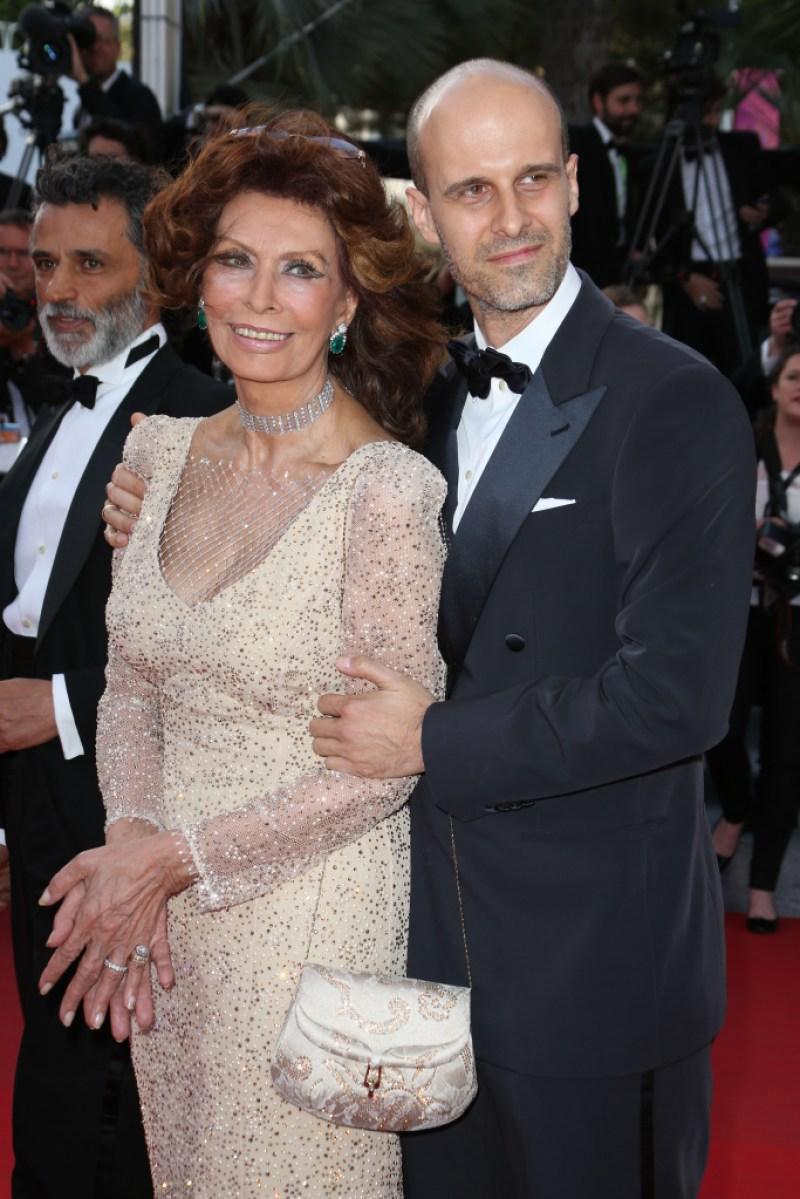 Sophia Loren and son Edoardo Ponti