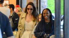 Angelina Jolie Goes Grocery Shopping With Daughters