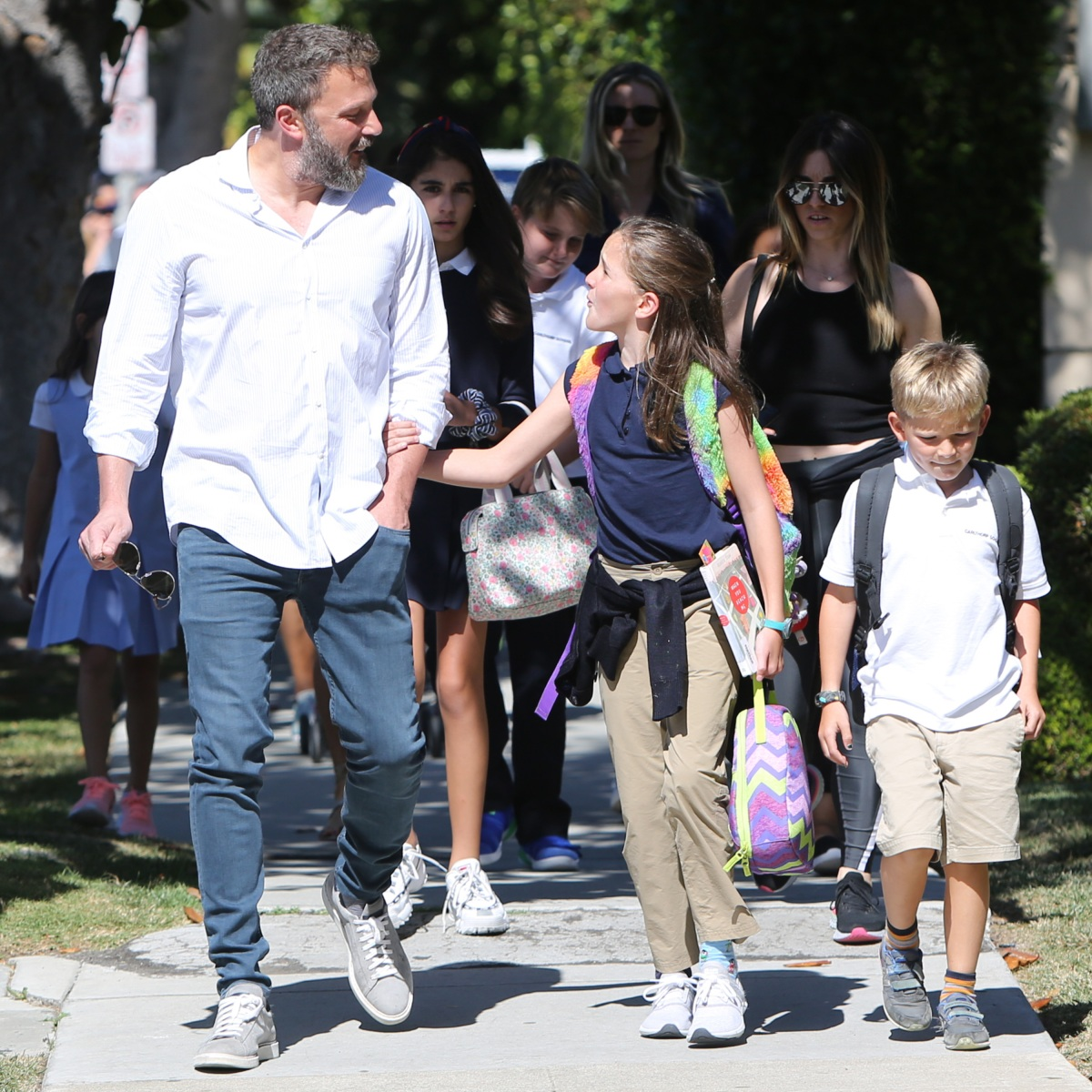Ben Affleck Enjoys an After-School Walk With Daughter Seraphina and Son Samuel — See the Cute Pics!