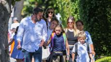 Ben Affleck and his children Seraphina and out and about