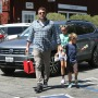 Ben Affleck Goes Shopping with Kids