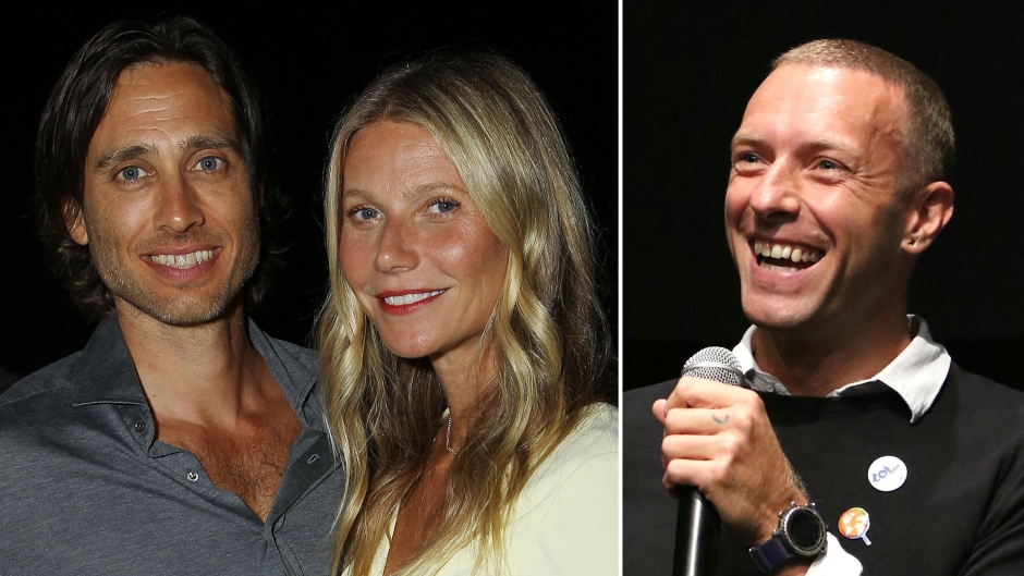Brad Falchuk, Gwyneth Paltrow and Chris Martin