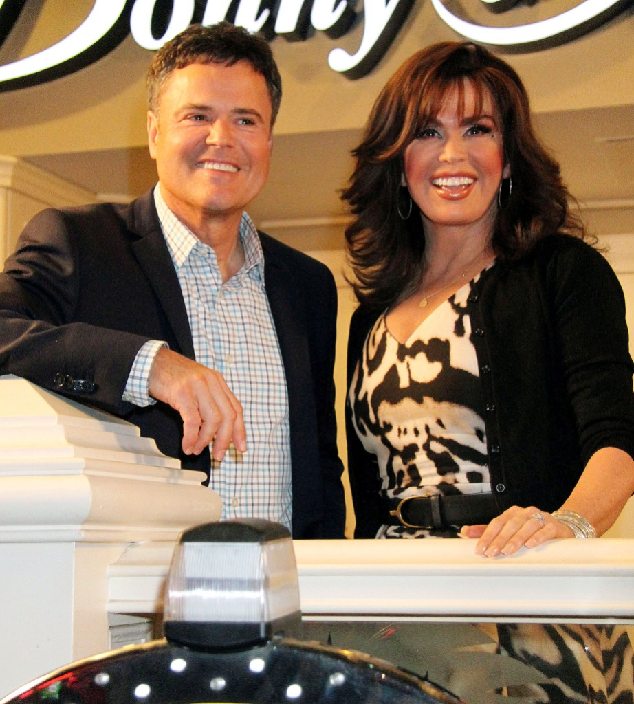 The Donny and Marie Showroom unveiled at the Flamingo Las Vegas Showroom, Las Vegas, America - 02 Oct 2013