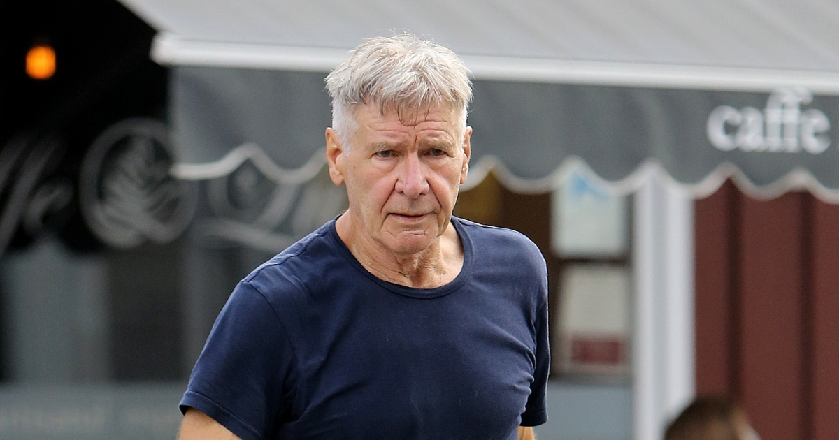 Harrison Ford Shows Off New Haircut During Coffee Outing