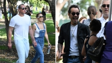 JLo and ARod join her ex Marc Anthony and girlfriend to cheer on daughter Emme at cross-country meet in Miami