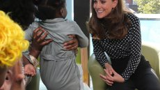 Duchess Kate Bonds With Moms and Their Kids During Outing at the Children's Hospital