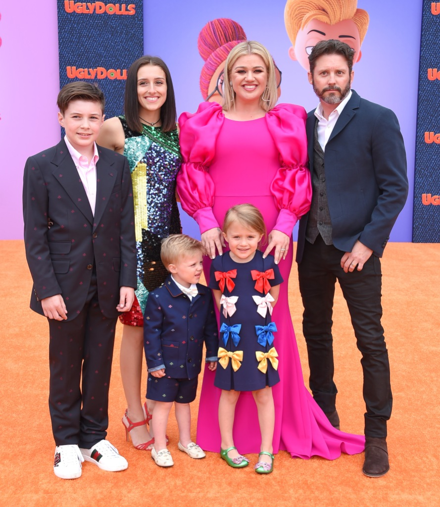 Kelly Clarkson, Brandon Blackstock and Their 4 Kids at the 'UgyDolls' Movie Premiere