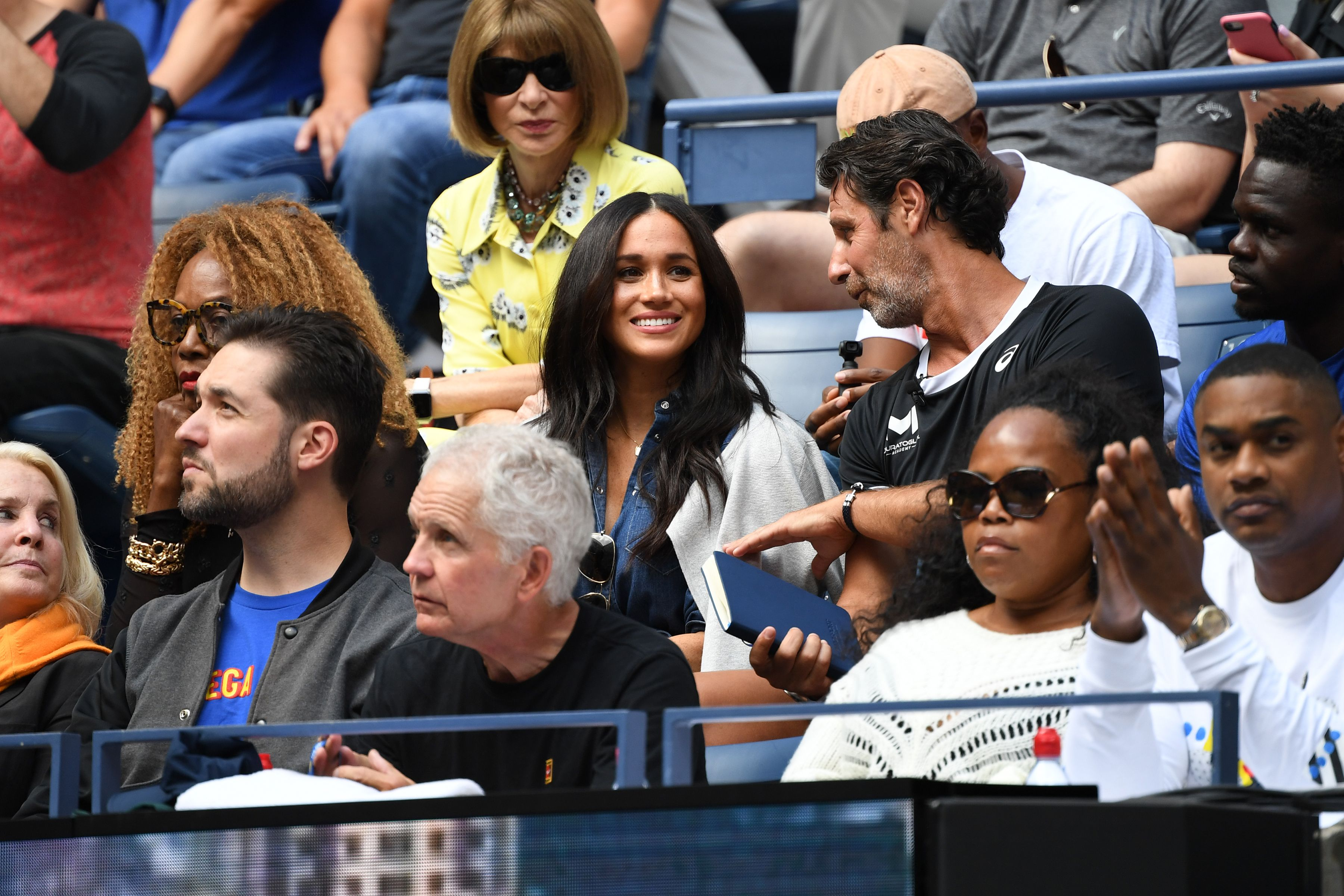 Meghan Markle Shows Off Royal Wave During Jumbotron Moment at the U.S. Open — See the Clip!