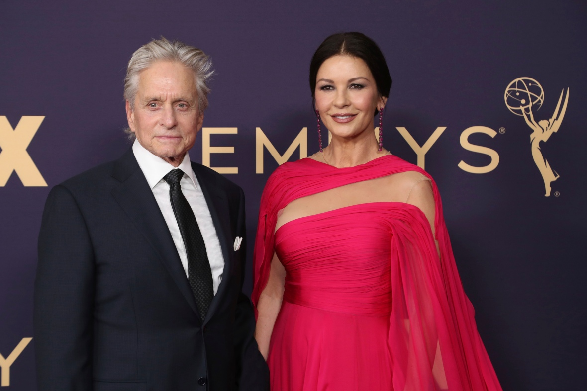 Michael Douglas and Catherine Zeta-Jones on the Red Carpet at the 2019 Emmy Awards