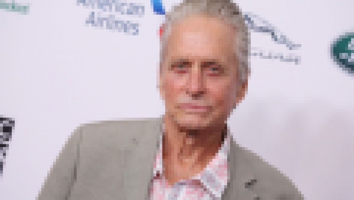 Michael Douglas in a Casual Blazer and Button-Up Shirt at the BAFTA LA TV Tea Party in L.A. on September 21, 2019