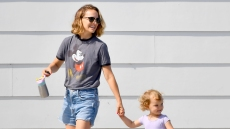 Natalie Portman takes her little Ballerina daughter Amalia to breakfast in Los Angeles