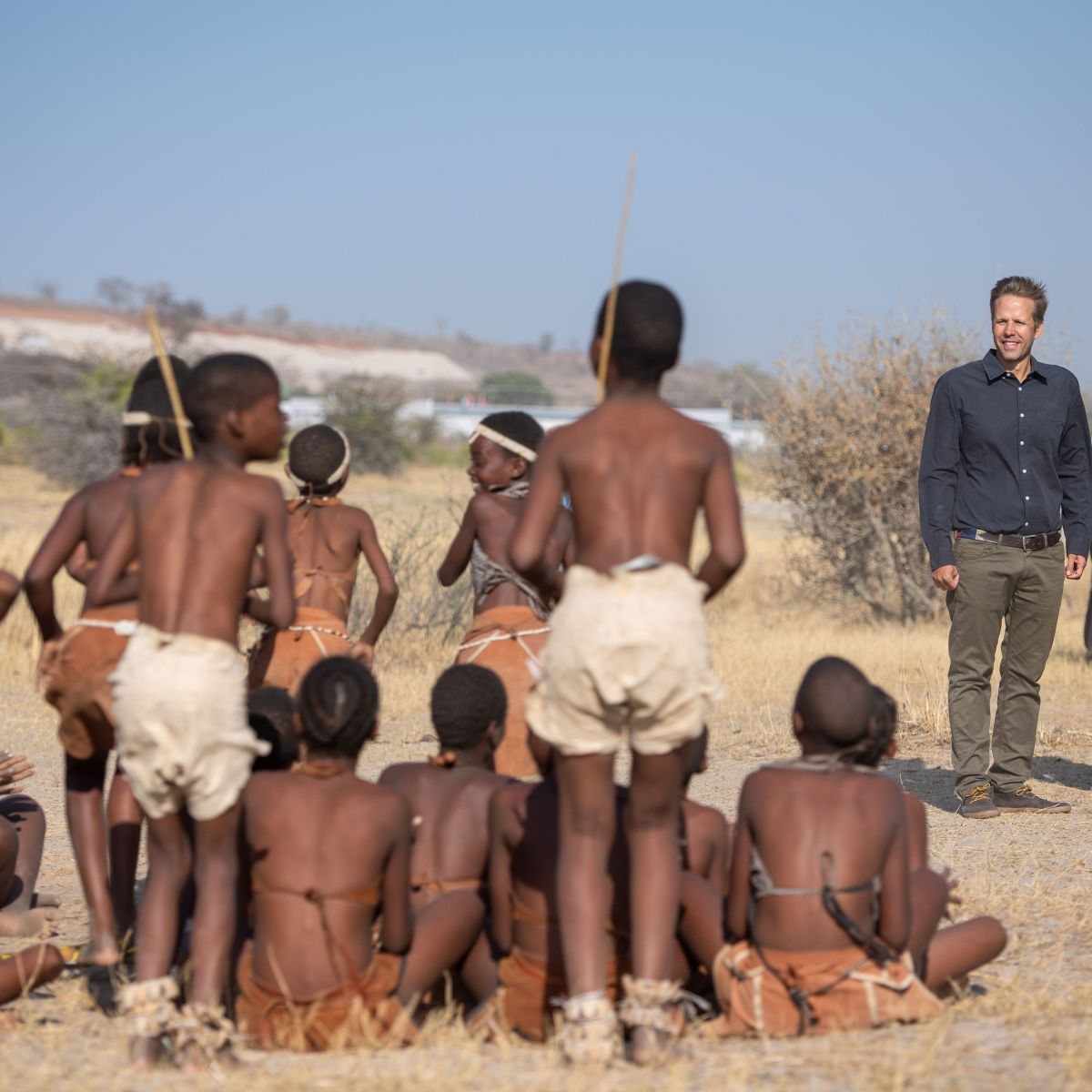 A Solo Prince Harry Attends Tree-Planting Event at a Chobe National Park in Botswana